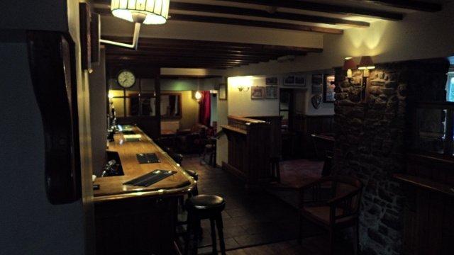 Ffostrasol Arms bar area