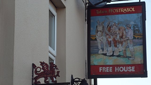 Ffostrasol Arms Free House sign