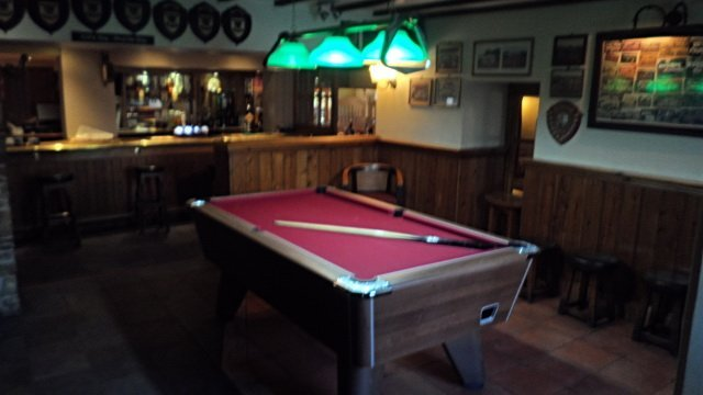 Bar area pool table
